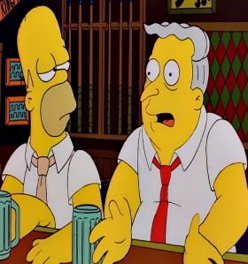 Rodney dangerfield cameo Larry Burns Moe's bar the Simpsons