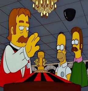 Homer Simpson takes Ned Flanders to Las Vegas the Simpsons