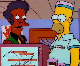 Homer Simpson works for Apu at the Kwik-E-Mart the Simpsons
