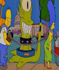 Kang becomes president of the United States of America treehouse of Horror Halloween the Simpsons