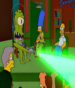 Kang is Maggie's father Jerry Springer the Simpsons treehouse of Horror