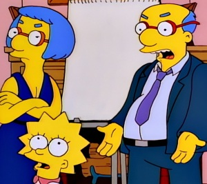 Kirk and luanne van Houten divorce the Simpsons