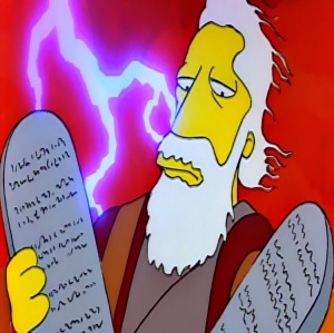 Moses and the ten commandments the Simpsons