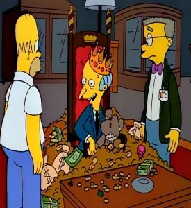 Bobo teddy bear Mr Burns the Simpsons