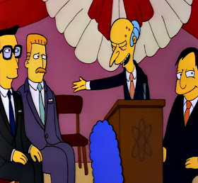 C Montgomery burns sells Springfield nuclear power plant to German businessmen the Simpsons