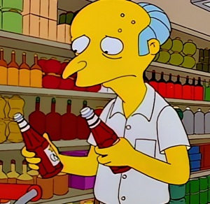 Ketchup catsup Mr Burns goes grocery shopping the Simpsons