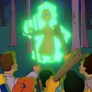 Mr Burns the friendly alien the Simpsons