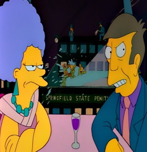 Aunt Patty dates principal Seymour Skinner the Simpsons