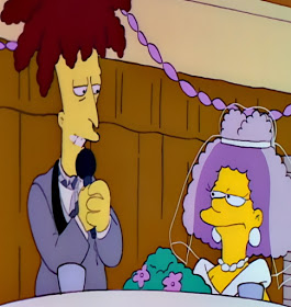 Selma Bouvier and Sideshow Bob marry wedding the Simpsons