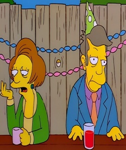 Principal Seymour Skinner falls in love with Edna krabapple the Simpsons