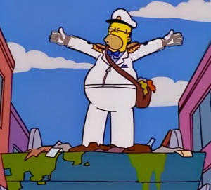 Homer Simpson becomes sanitation Commissioner the Simpsons
