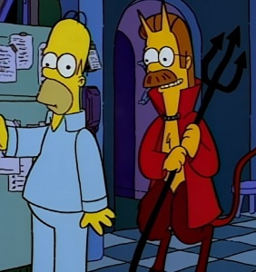 Treehouse of horror nes Flanders as the devil the Simpsons