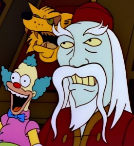 Frozen yogurt guy treehouse of Horror cursed Krusty doll the Simpsons