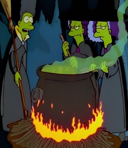 Marge Selma Patty as Green Evil witches the Simpsons