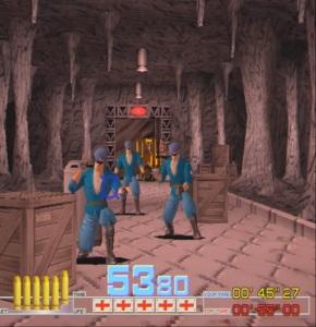 Time Crisis arcade game enemies