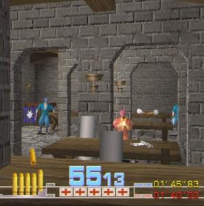 Shootout Time Crisis arcade game