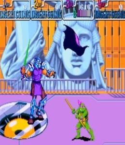 Shredder vs Donatello TMNT: Turtles in Time arcade Konami