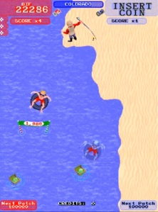 Toobin arcade game Atari water tube race