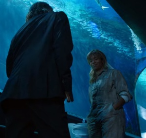 Mr gold finds Ursula at the aquarium once upon a time ABC Merrin Dungey Robert Carlyle