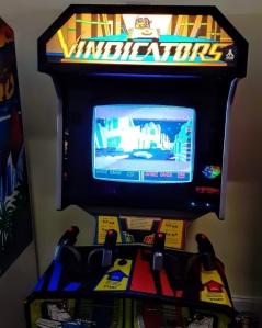 Vindicators arcade machine cabinet Atari