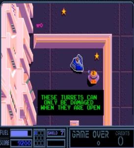 Tank vs turret Vindicators Atari arcade game
