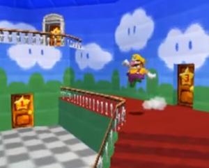 Wario walking around Princess Peach's castle Super Mario 64 DS Nintendo DS
