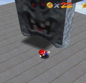 Whomp King super Mario 64 Nintendo 64 N64