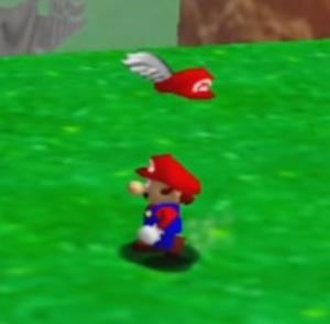 Mario gets the wing cap Super Mario 64 Nintendo 64 N64