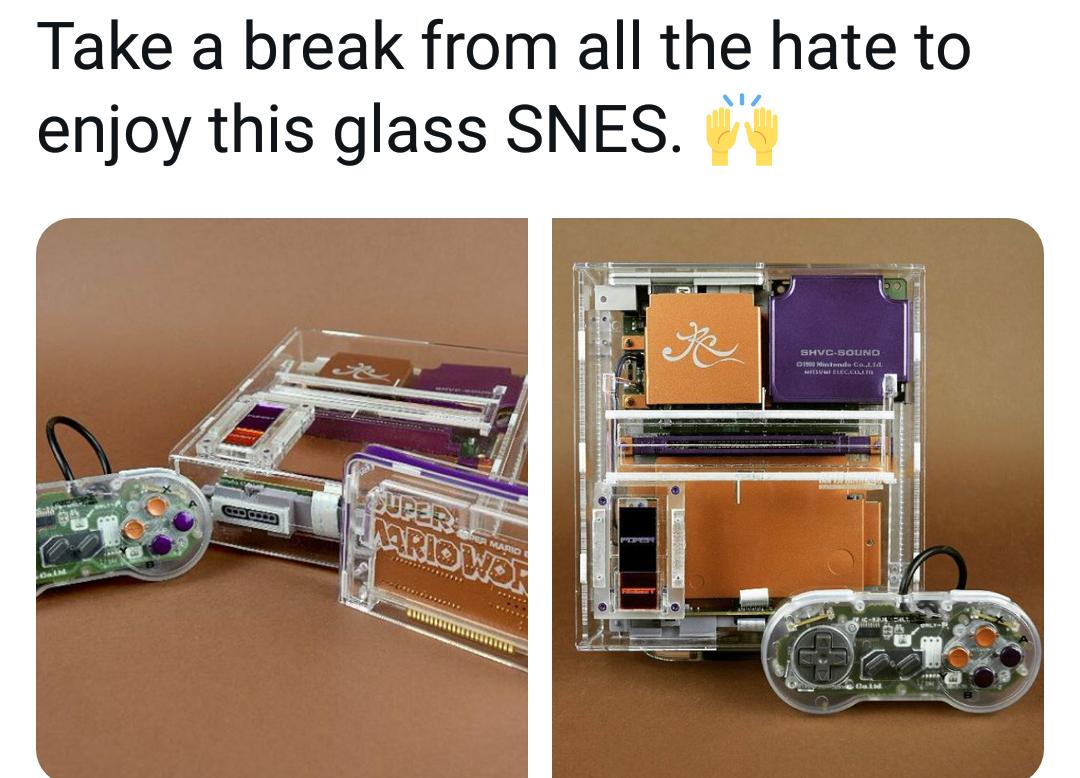 Memes Shiny glass super Nintendo SNES