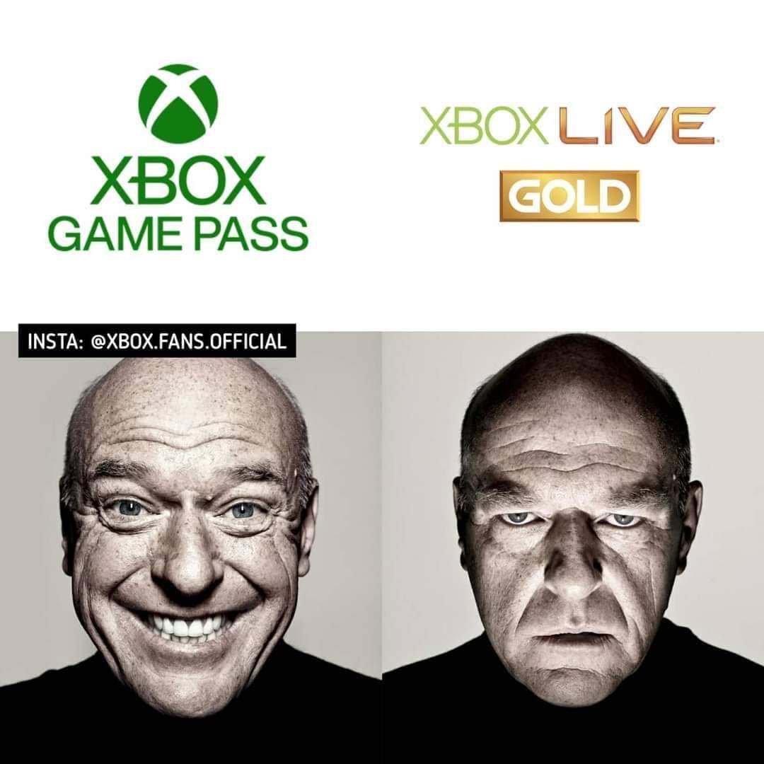 Memes Xbox game pass versus Xbox live gold