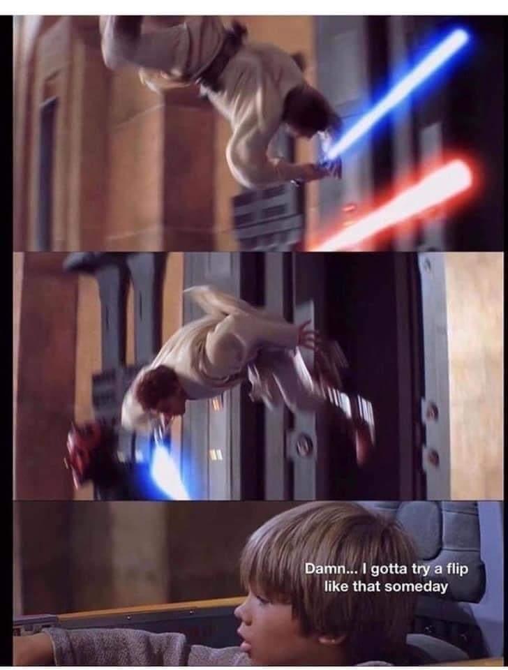 Memes Star Wars Jedi flip
