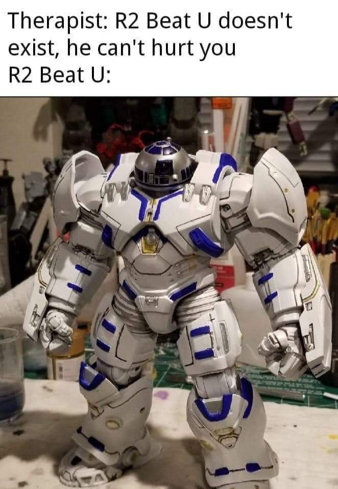 Memes Star Wars R2-D2 muscles