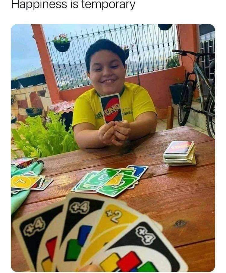 Memes Uno card game +4 card