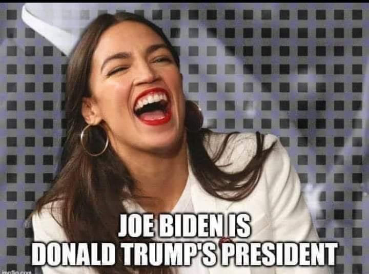Memes AOC and Joe Biden versus Donald Trump