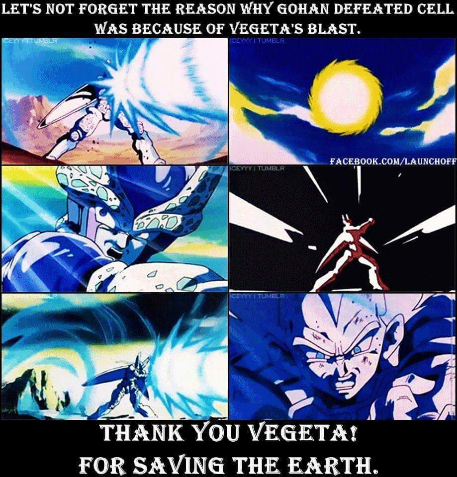 Memes vegeta saves the world dragon ball Z