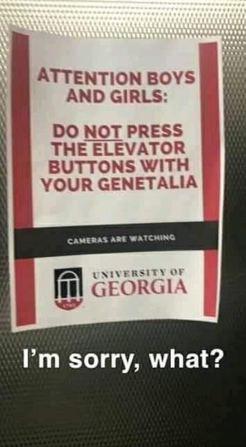 Memes University of Georgia elevator
