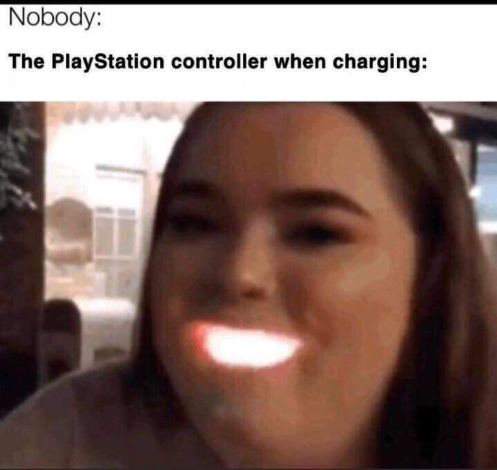Memes Play station controller glowing glowing