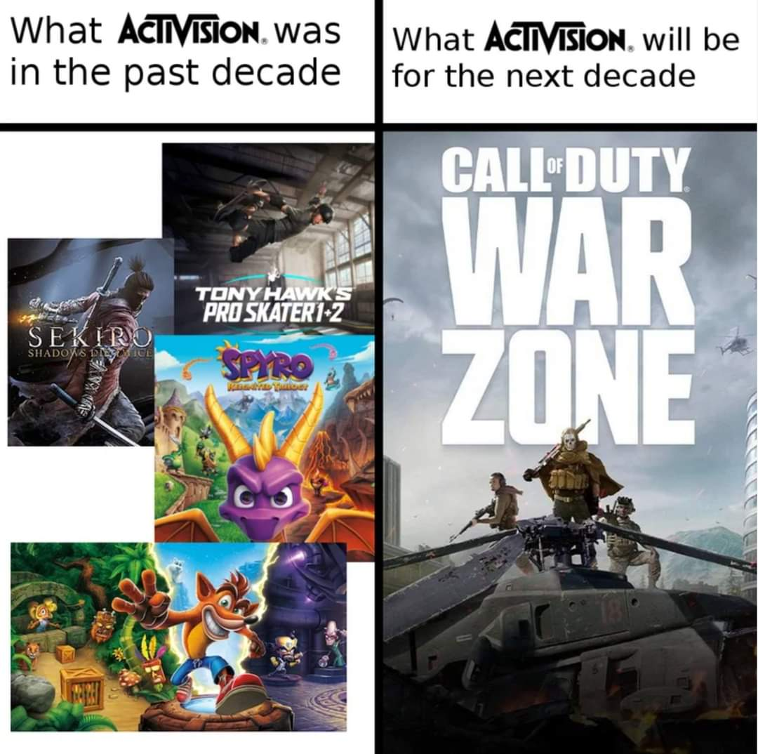 Memes Activision video games