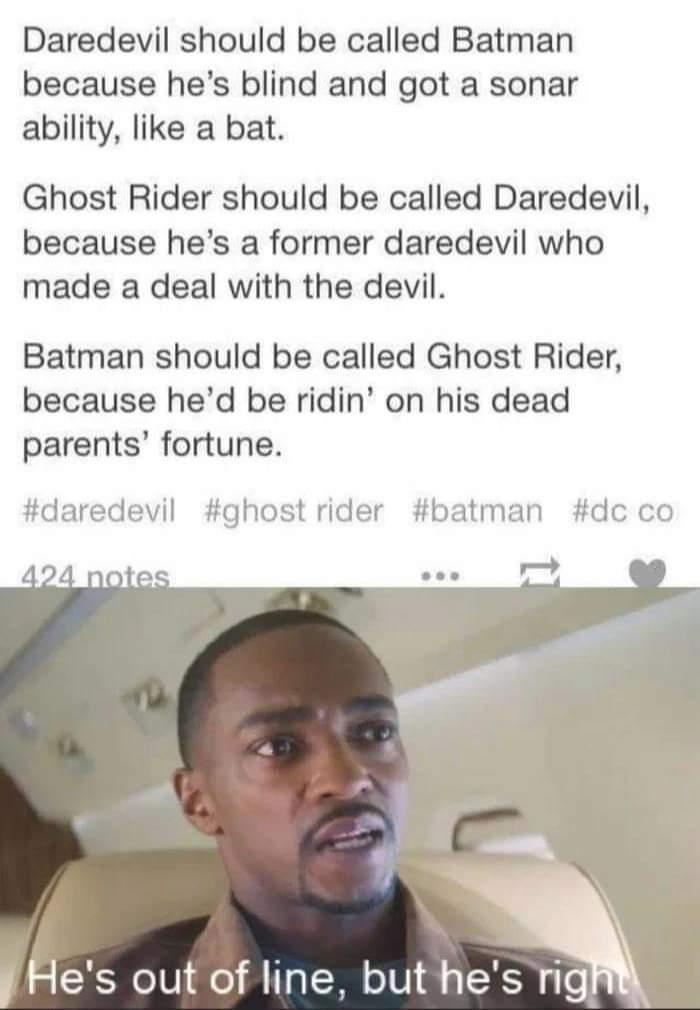 Memes Batman daredevil ghost rider