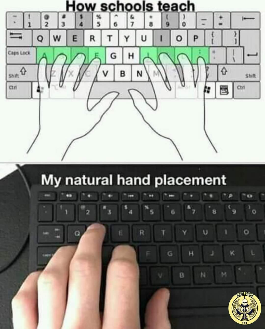 Memes PC gamers and keyboards
