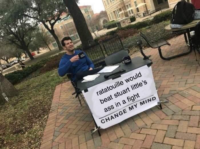 Memes ratatouille versus Stuart Little