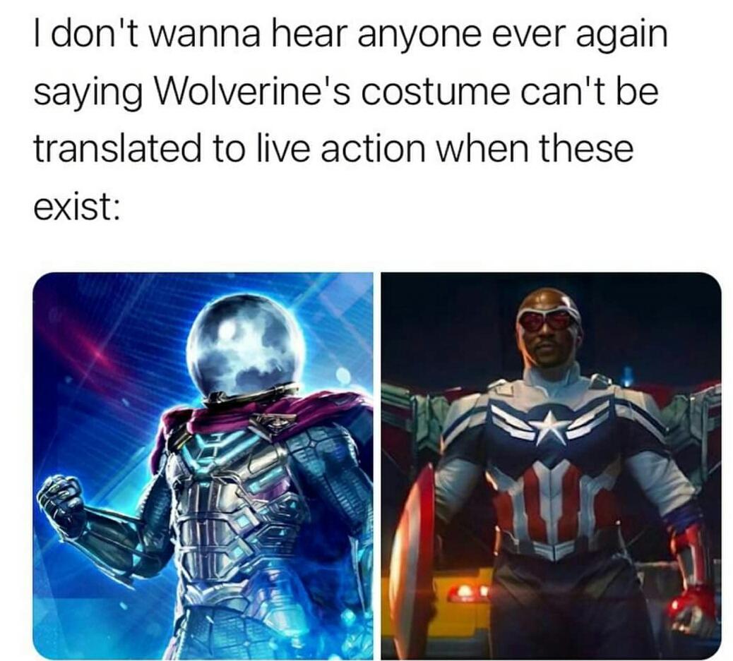 Memes Mysterio costume MCU captain America Sam Wilson costume