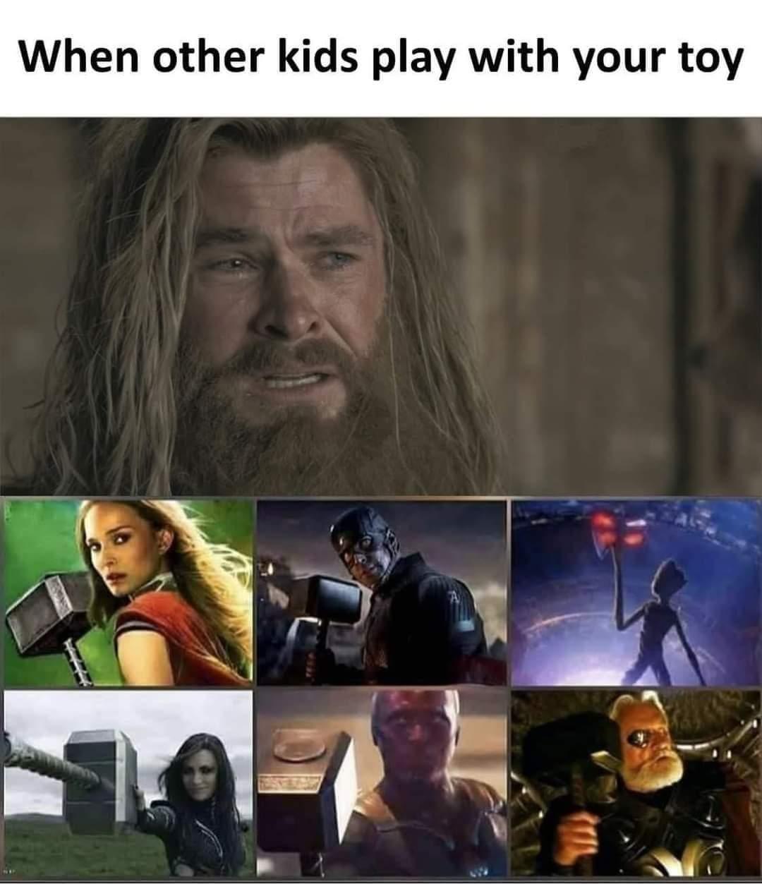 Memes Thors hammer Marvel cinematic universe MCU