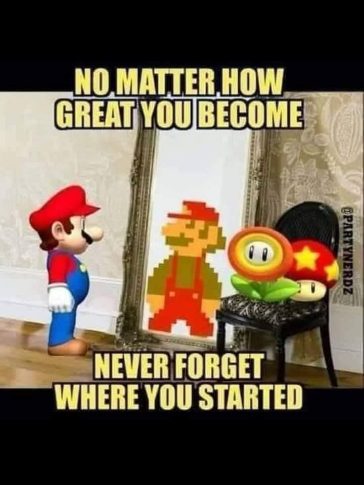 Memes Super Mario brothers retro