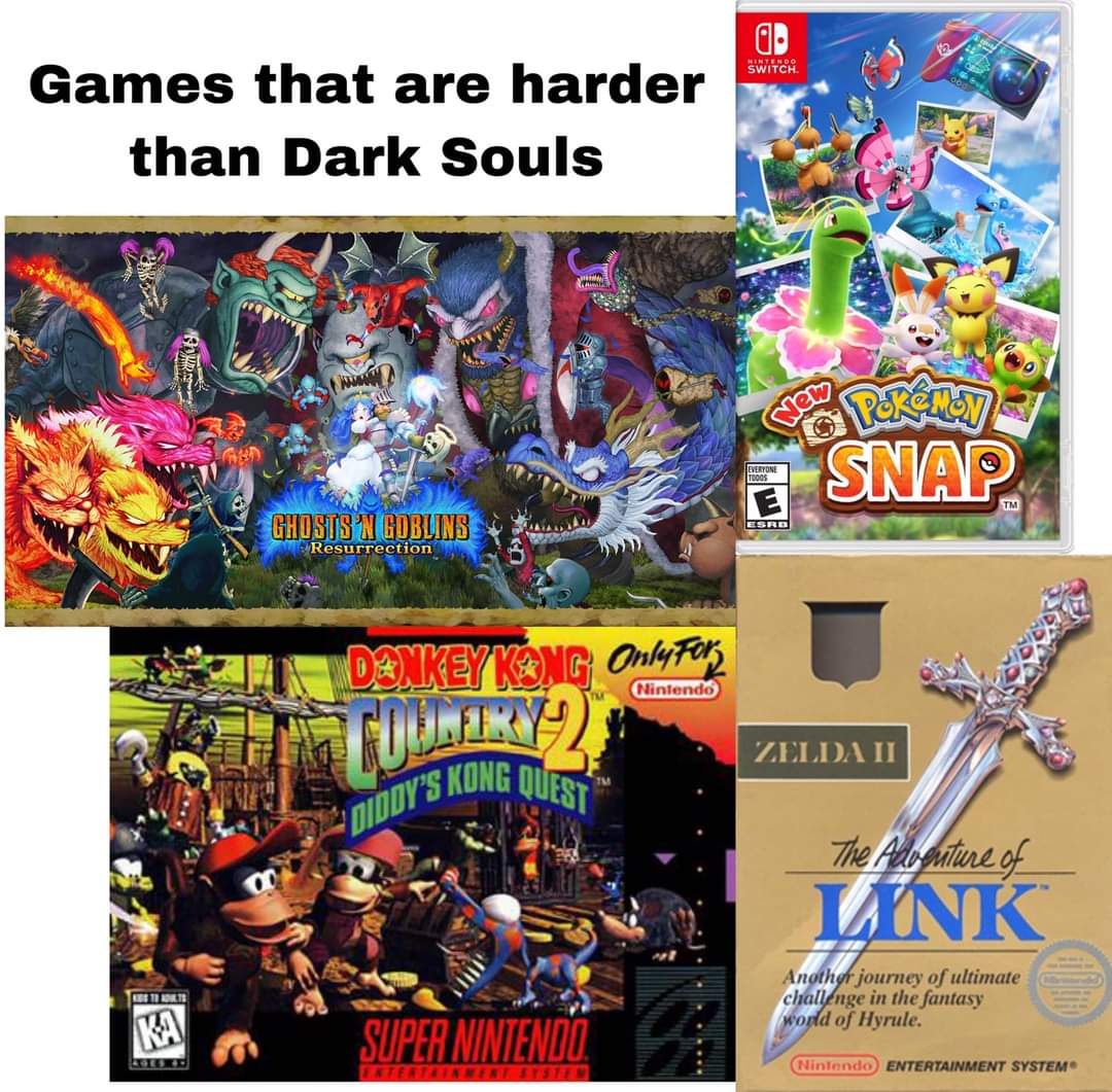 Memes Games that are harder than dark souls
