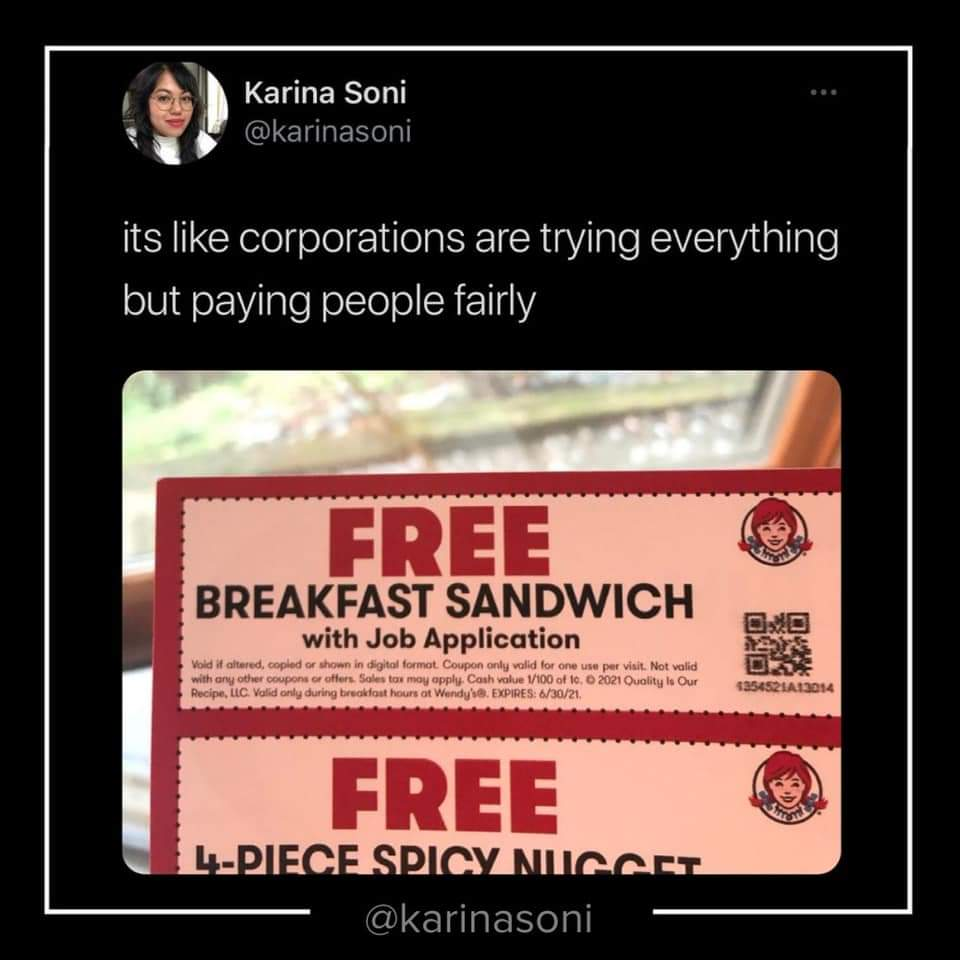 Memes Wendy's doesn't pay people fairly