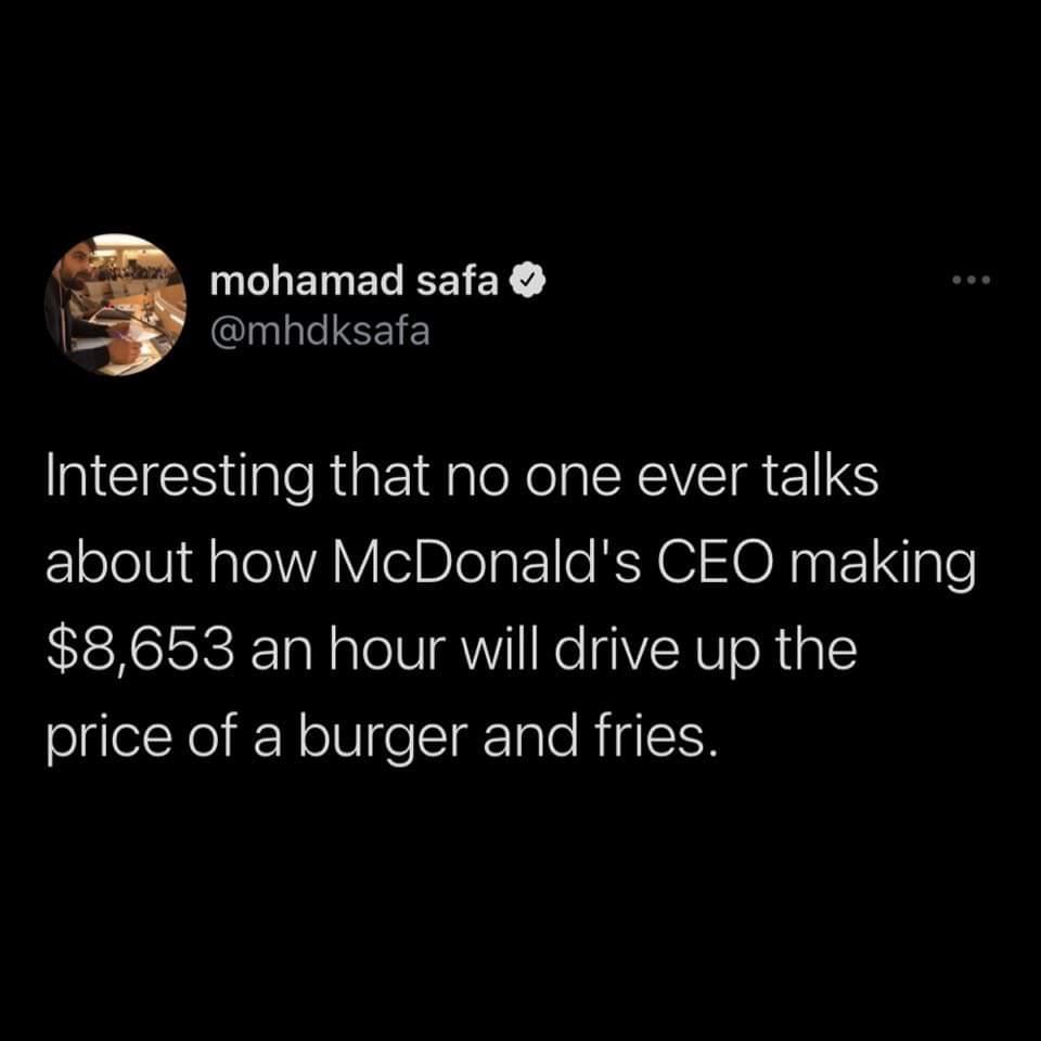Memes McDonald's CEO salary