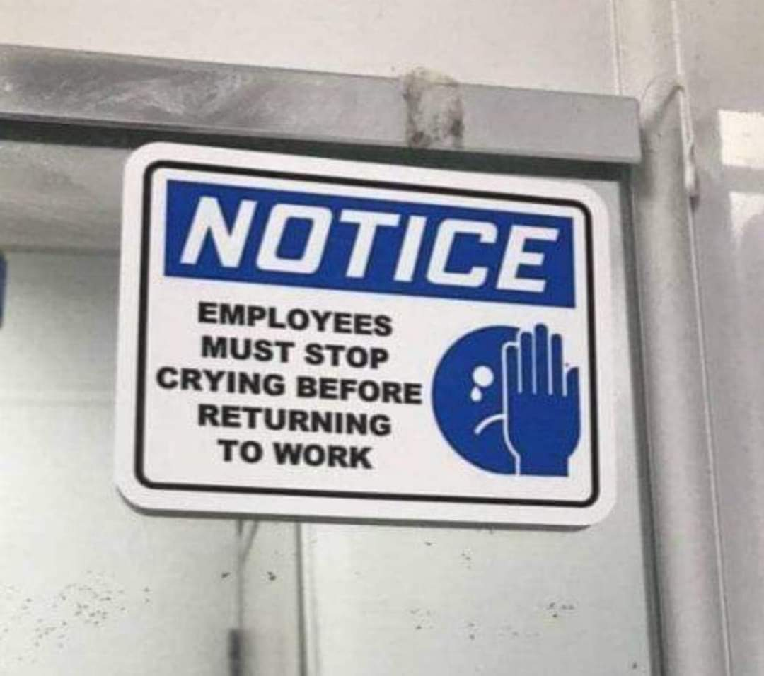 Memes employees must stop crying before returning to work