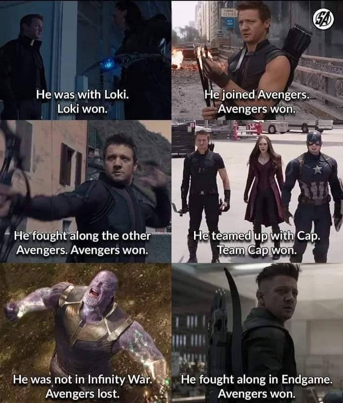 Memes Hawkeye Marvel cinematic universe