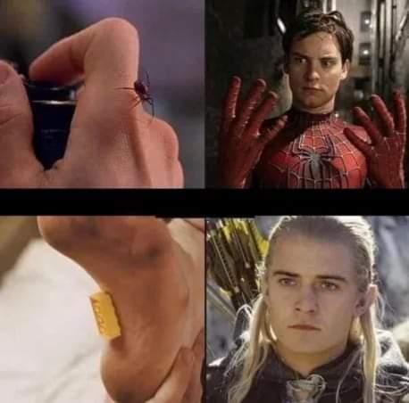 Memes Spiderman and legolas